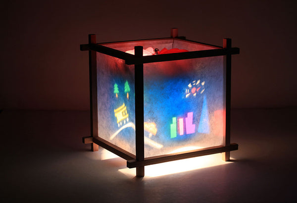 San Francisco rotating kids lamp