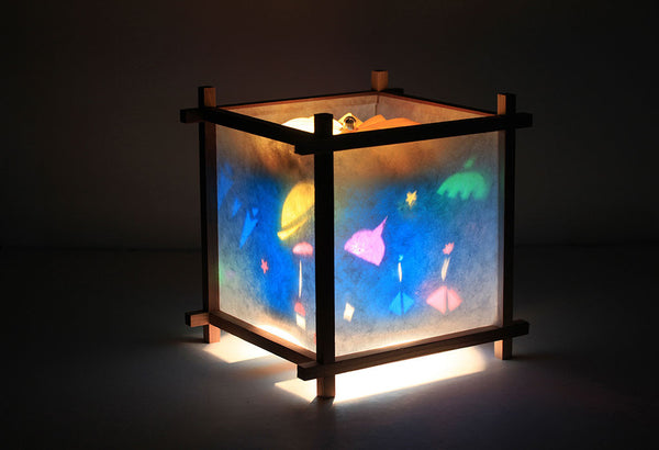 Space travel rotating kids lamp