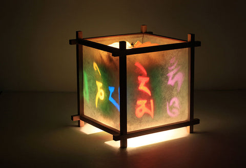 Tibetan mantra rotating lamp