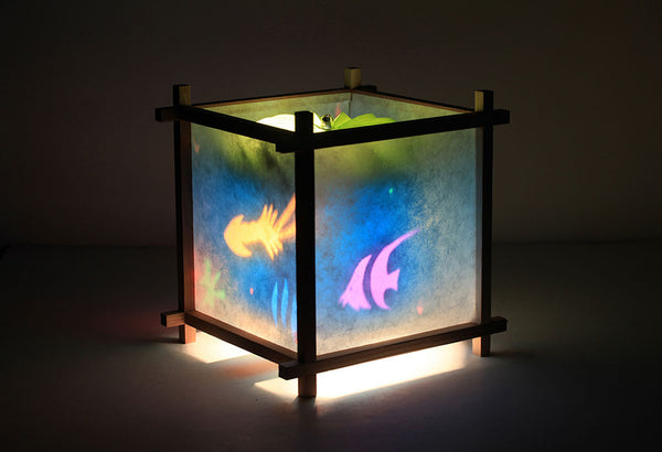 Tropical Aquarium Rotating Girls Bedside Table Lamp by Magic Lamp