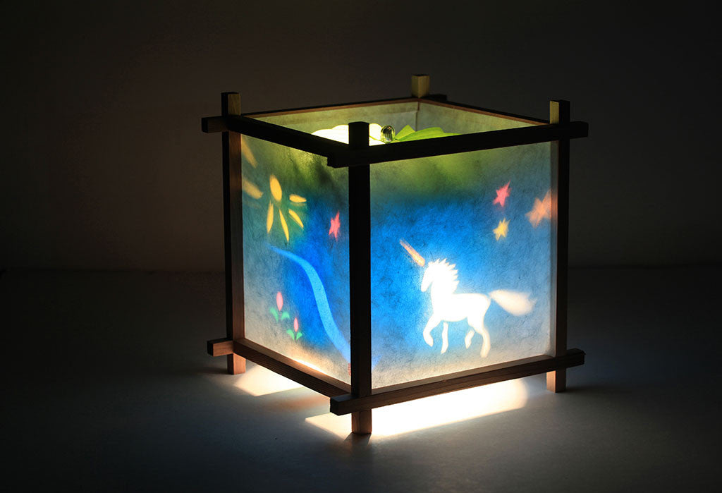 Unicorn rotating kids lamp