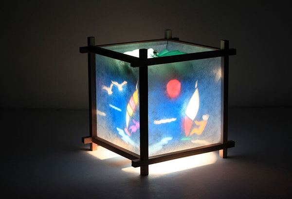 Wind surfing rotating kids lamp
