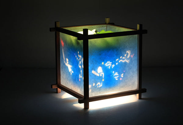 Zodiac rotating kids lamp
