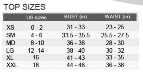 Size Chart/Tops