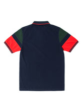 Orsman Blocked Sleeve Polo Shirt Navy