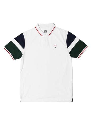 Orsman Blocked Sleeve Polo Shirt White