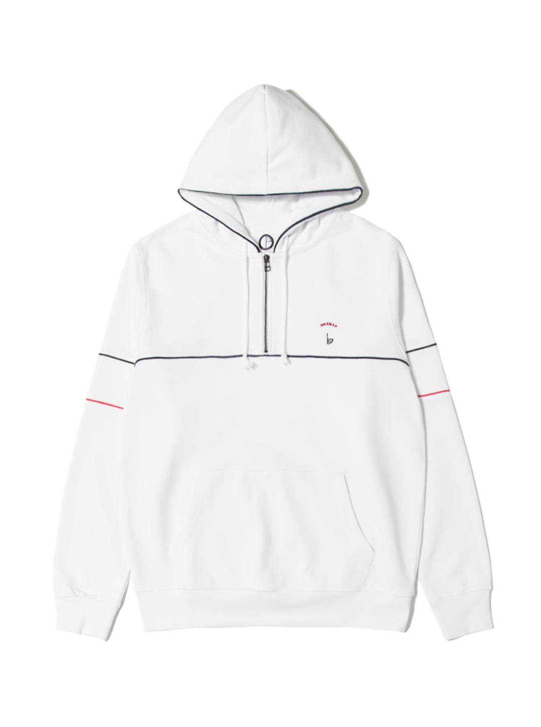 Orsman Quarter Zip Hood White