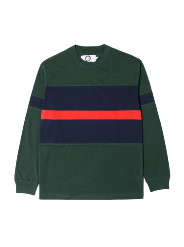 Orsman Bow Nautical Stripe Long Sleeve T-Shirt Green