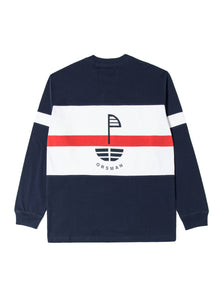 Orsman Bow Nautical Stripe Long Sleeve T-Shirt Navy