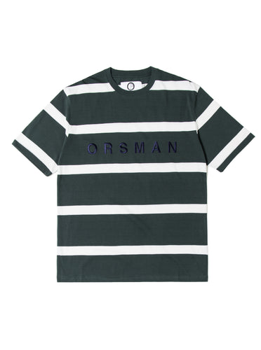 Orsman Striped Yarn Dye T-Shirt Green
