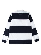 Orsman Striped Rugby Shirt White & Navy