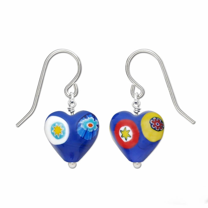Blue Heart Earrings for Women