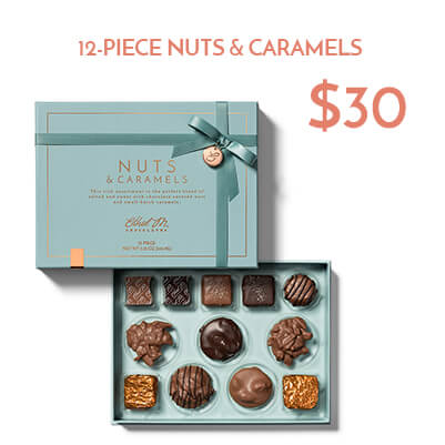 12-piece nuts and caramels