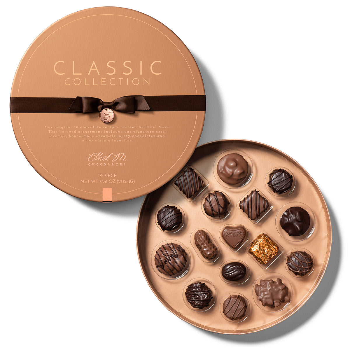 round copper Classic Collection 16 piece