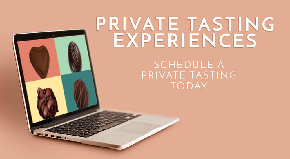 Laptop with Ethel M Chocolates Private Tasting Experience