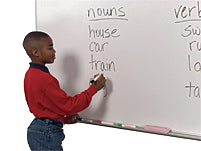 White Boards are very popular and is an alternative to Chalkboards