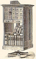 Pigeon Hole cabinets featured numerous styles of filing systems.