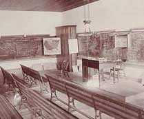 1891 history classroom at the University of Northern Iowa (UNI)