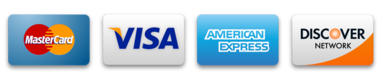 We accept all major credit cards