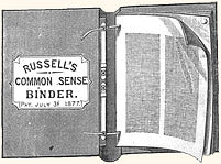 Russell's Common Sense Binder, patented in 1877