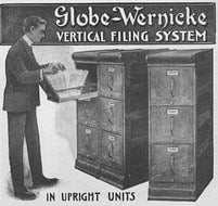 The lateral file was first invented by Edwin G. Seibels in 1898