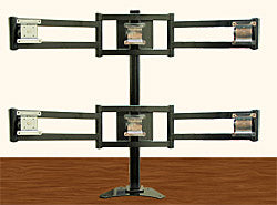 Duo Display - Quad Monitor Pole Solution