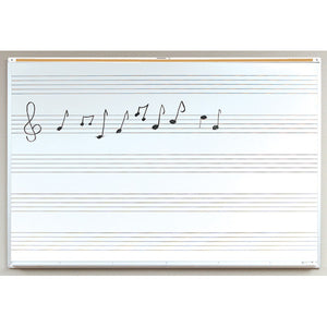 Porcelain Steel White Board with Music Lines