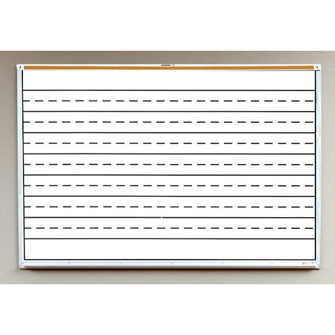 Porcelain Steel White Board with Penmanship Lines
