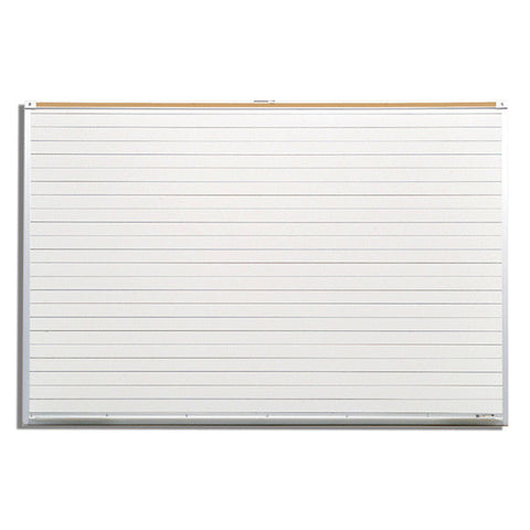 Porcelain Steel White Board - Horizontal Lines 4' x 8'