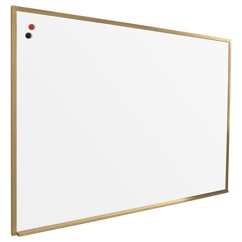 Porcelain and Steel Dry Erase Board with Solid Wood Trim - Large Sizes
