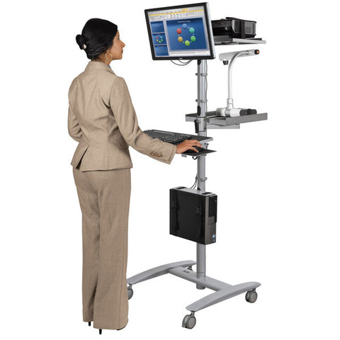 Beta Sit-Stand Mobile Workstation Cart