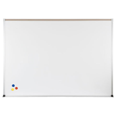 Porcelain and Steel Economical ABC Dry Erase Board with Map Rail - Large Sizes