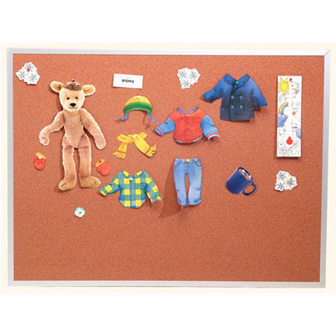 Color Washed Cork Board with Aluminum Frame - Extended Sizes