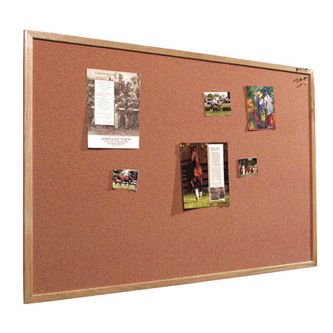 Color Washed Cork Board Wood Frame - Extended Sizes