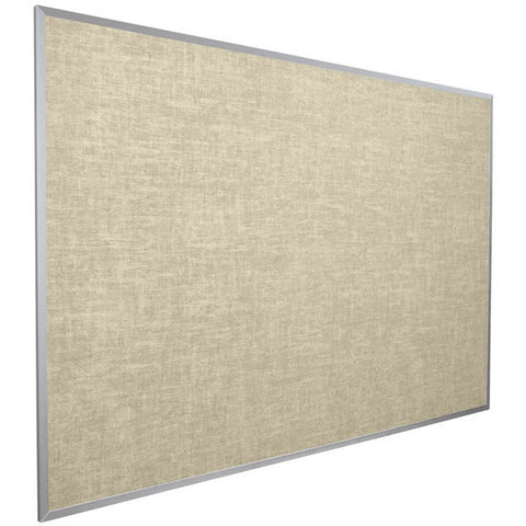 Vinyl Bulletin Board - Aluminum Frame - 4' x 5' - Cotton