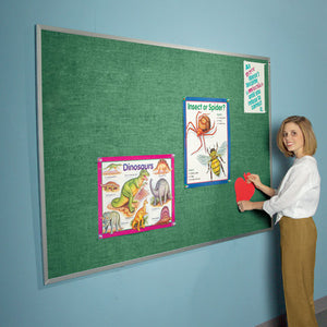 Aluminum Framed Vinyl Bulletin Board - Assorted Colors - Extended Sizes