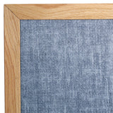 Oak Framed Vinyl Bulletin Board - Assorted Colors - Small Sizes