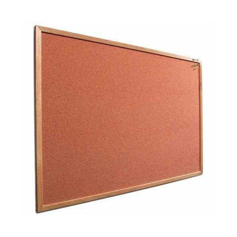 4' x 4' Recycled Rubber Bulletin Board with Wood Trim - Tan