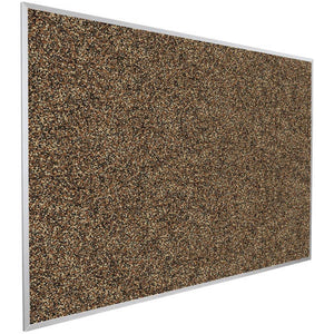 4' x 5' Recycled Rubber and Aluminum Bulletin Board - Tan