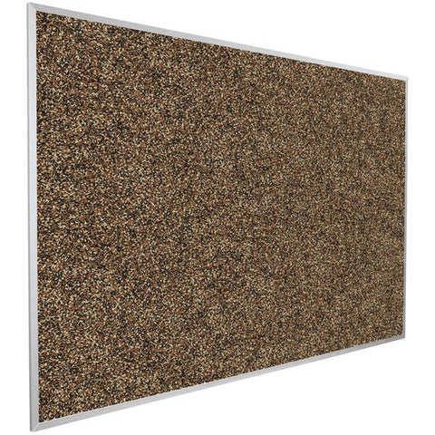 4' x 4' Recycled Rubber and Aluminum Bulletin Board - Tan