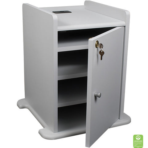 Locking Cabinet for Laptop Projector Cart, Grey