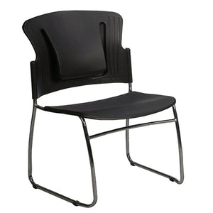 Reflex Stacking Chairs (Set of 4) - Black