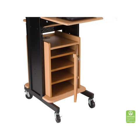 Locking Cabinet for Laptop Projector Cart - Teak