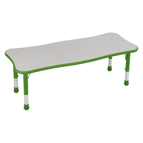 "Children's Extra Large Adjustable Rectangle Table - 30"" Deep"