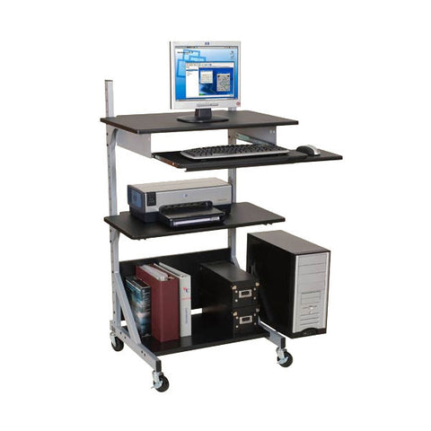 Adjustable Black Computer Desk - Stand Up or Sit Down Configuration