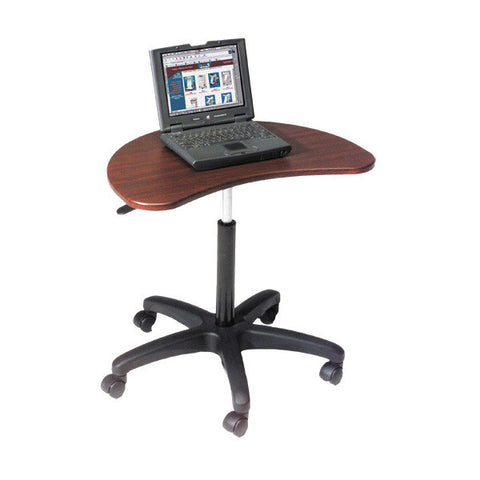 Adjustable Rolling Laptop Desk - Mahogany