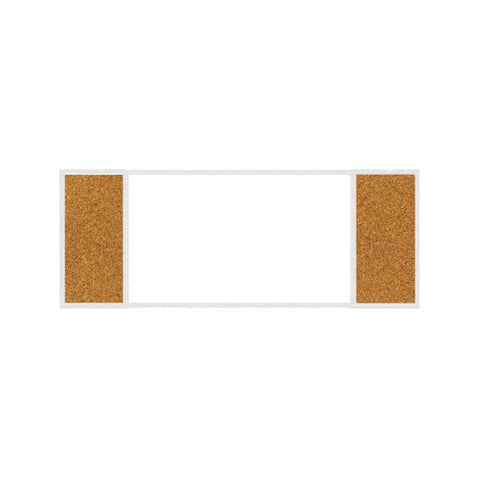 Combination Bulletin Board with Porcelain White Board - 70 Series