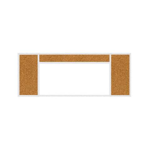 Combination Bulletin Boards with Porcelain White Boards