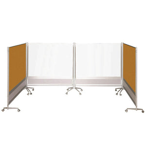 DOC Double-Sided Porcelian Markerboard / Cork Board Room Partition