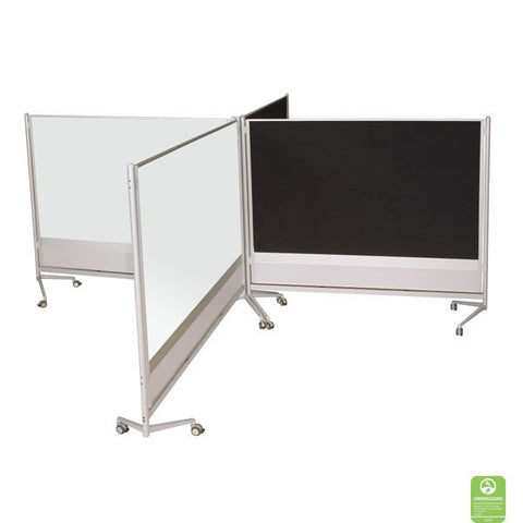DOC Double-Sided Porcelain Markerboard / Fabric Room Partition